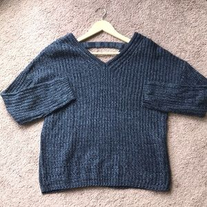 Oversized Navy Sweater
